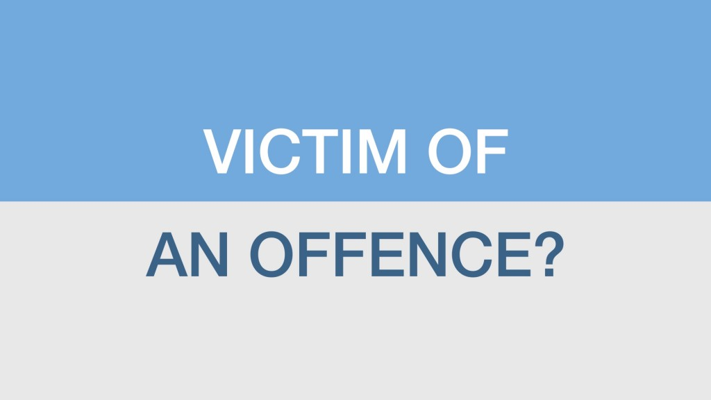 Victim Of An Offence